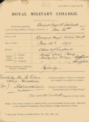 RMC Form 18A Personal Detail Sheets Jan 1915 Intake - page 385