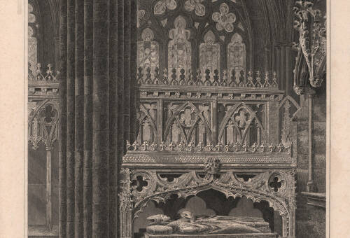 Monument of Bishop Stapledon, in Exeter Cathedral, 1831, Exeter