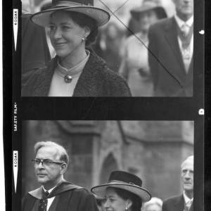 Contact print of Princess Margaret