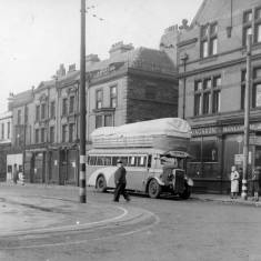 Gas bus in Market  Place