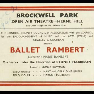 Open Air Theatre, Brockwell Park, London, June 1943