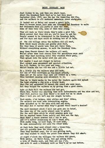 004 The 1907 walk in verse by local poet John Thorpe