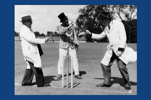 "A ""Crazy Cricket"" match at Tudor Drive, Morden"