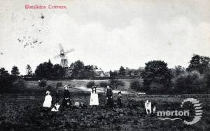Youngsters pictured near the windmill, Wimbledon Common