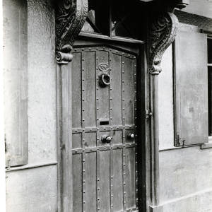 No 136, St Owen Street, Hereford, front door 1901