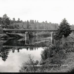Road Bridge crossing the Wye at Hoarwithy