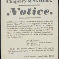 Chapelry of St Hilda Notice