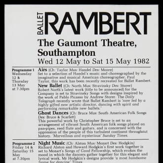 Gaumont Theatre, Southampton, May 1982