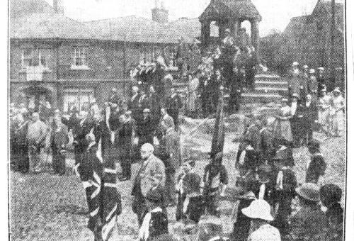Jubilee service at Lymm Cross