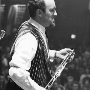 Acker Bilk performing in concert, 1950s.