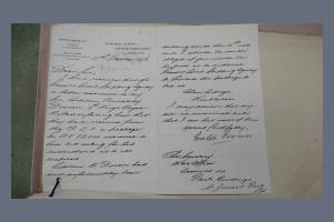 Letter - From Walter Dowson to the Secretary at the War Office