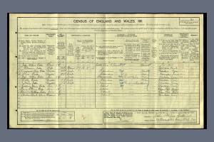 1911 census - 19 Chestnut Road, Raynes Park