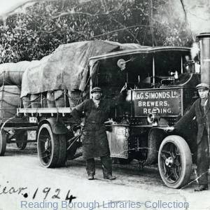 A Steam Lorry Belonging to H. and G. Simonds, Brewers, of Reading, in 1924.