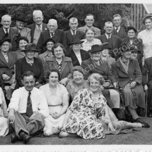 Grenoside Pensioners Garden Party with Councillor Pallett c 1956-7