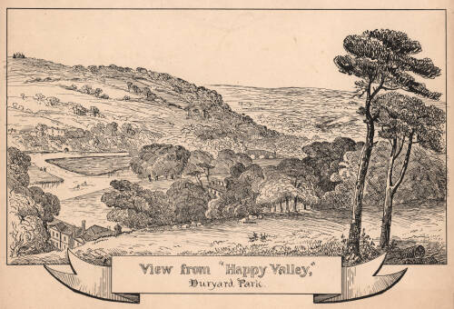 View from 'Happy Valley', Duryard Park, c1860, Exeter