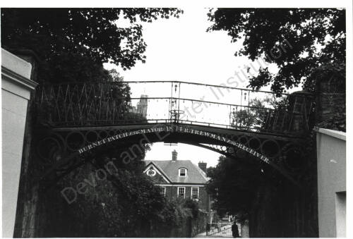Bridge leading into Cathedral Close, c1960, Exeter