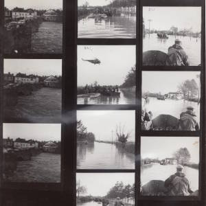 Contact Sheet: Floods at Hampton Bishop.