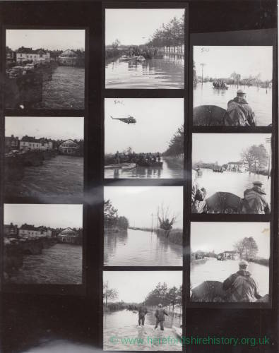 Contact Sheet: Floods at Hampton Bishop