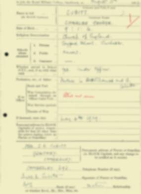 RMC Form 18A Personal Detail Sheets Aug 1934 Intake - page 48