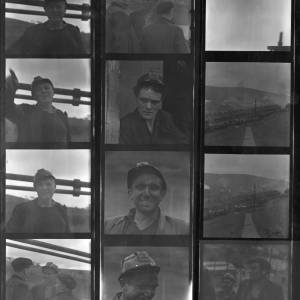 Contact sheet, mostly portraits. Dated 1962