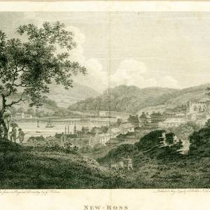 Engraved view of Ross-on-Wye, 1799
