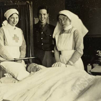 Nurse Kerr, Sister Nicholson and Patient Walker