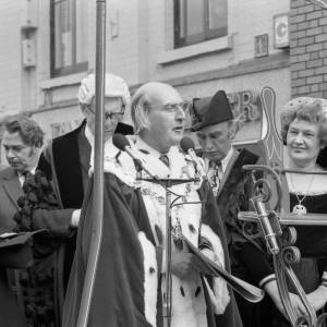 The Mayor of Hereford at the opening of Hereford May Fair in 1975