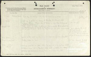 War Diary (1) for 5th Battalion London Rifle Brigade