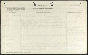 War Diary (1) for 5th Battalion London Rifle Brigade