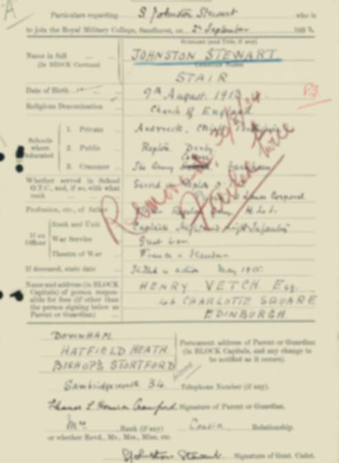 RMC Form 18A Personal Detail Sheets Feb & Sept 1933 Intake - page 73