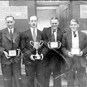 Grenoside Top Red Lion Men's Dart Team c1950