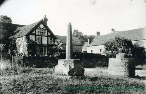 Bodenham, restored market cross, 1902