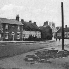 1914 - 1918 View of the High Street from the Green