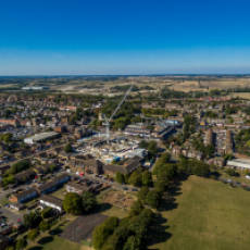 2019 09 September Aerial View of Houghton Regis and Construction of All Saints View