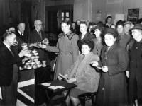 Distributing food parcels at Morden Hall