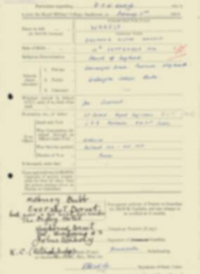 RMC Form 18A Personal Detail Sheets Feb & Sept 1933 Intake - page 143
