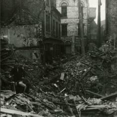 World War II bomb damage in Union Alley