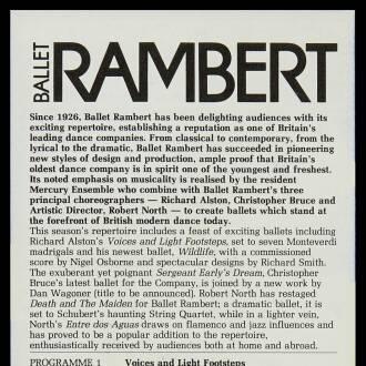 Haymarket Theatre, Leicester, February 1985