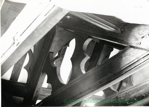 Castle Street, Hereford, roof of Choral Hall