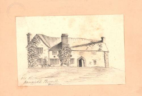 Old rectory, c1880,Sampford Peverell