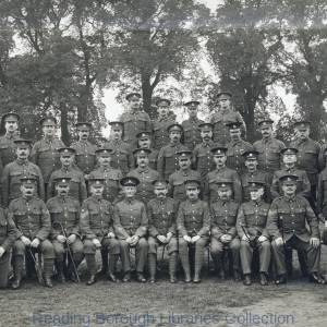 Warrant Officers and Sergeants, Royal Berkshire Regiment, Brock Barracks, Reading, August 1914.