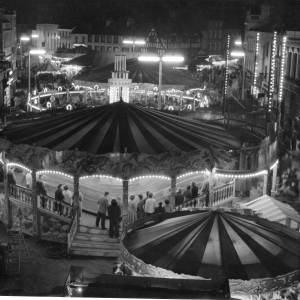 The May Fair at night - High Town Hereford.