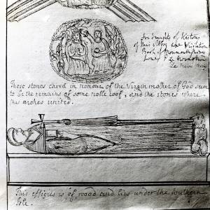 Dore Abbey, wooden effigy