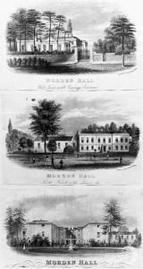 The west, north and south fronts of Morden Hall, Morden