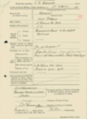 RMC Form 18A Personal Detail Sheets Feb & Sept 1933 Intake - page 21