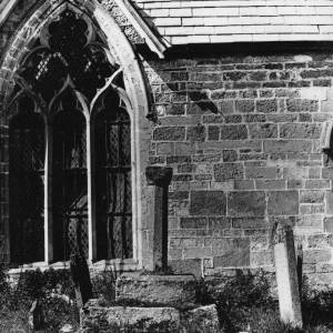 Allensmore church, cross and south window, 1928