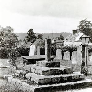 Goodrich, Cross in cemetery, 1929