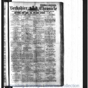 Berkshire Chronicle Reading 10-1917