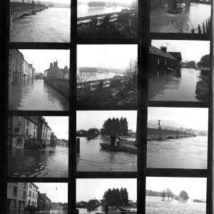 Contact Sheet: Floods in Herefordshire and Monmouthshire.