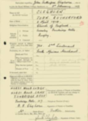 RMC Form 18A Personal Detail Sheets Feb & Sept 1933 Intake - page 30